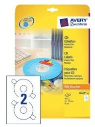 Avery Cd Labels Avery L6015 25 Cd Labels 117 Mm 50 Labels For Laser Inkjet Printers