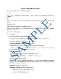 This agency agreement (agreement) according to art. Agency Agreement Sale Of Goods Free Template Sample Lawpath