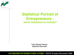 Statistical Portrait Of Entrepreneurs Which Indicators To