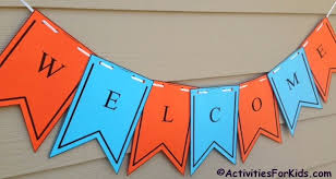 printable welcome home banner template printable welcome banner template first day of school