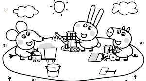 peppa pig printable coloring pages 1