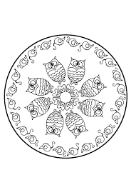 Kleurplaat Mandala Dieren Animaatjesnl