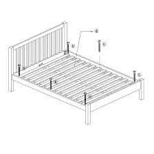 mattress icon png. Instructions For Assembling A Solid Slatted Bed Frame Mattress Icon Png