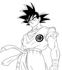 Small Picture Dragon Ball Z Coloring Pages Goku For glumme
