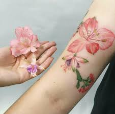 красивые цветочные тату Wooinfo