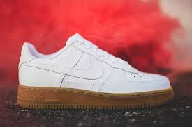 white gum nike air force 1 low af1 white