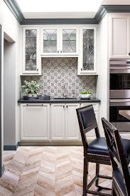 black and white mosaic kitchen backsplash tiles