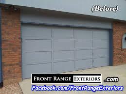example of amarr garage door installation in colorado springs