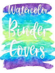Binder Covers Watercolor Theme Editable By Mrs Fun Tpt