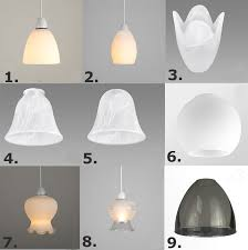 replacement pendant glass lamp shades antique style 7