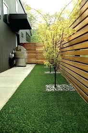 luxury fake grass for patio for contemporary courtyard garden with artificial grass and vertical slat fences fake grass for patio