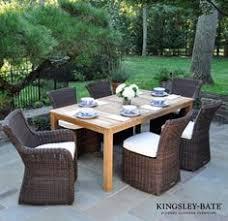 brown wicker patio dining chairs kingsley bate edor sag harbour