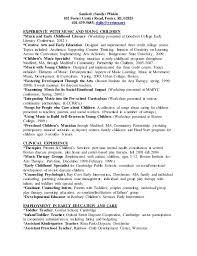 sanford sandy pliskin 102 foster center road foster ri child development resume
