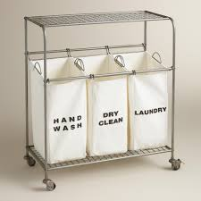 Metal 3-Bag Ashton Laundry Cart | Laundry shop, Cotton bag and Laundry