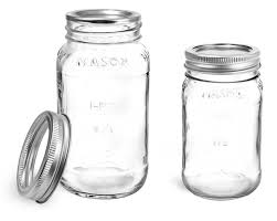 Bulk Clear Glass Jars Clear Glass Mason Jars W Silver Two Piece Canning Lids Sks Bottle Sks Bottle Packaging Glass Jars