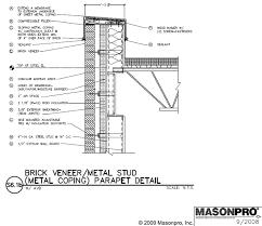 metal studs details. brick veneer/metal stud cavity wall details metal studs details p