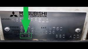 Mitsubishi Color Code Chart How To Find Your Mitsubishi Paint Code