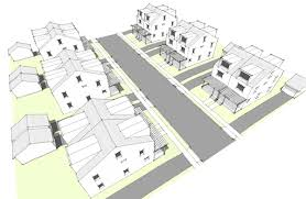 Modern House Plans by Gregory La Vardera Architect  Row House    The full range of Row House designs would encompass distinct plan sets  which is roughly triple our entire collection  something that took us years to