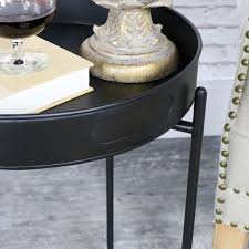 round black tray side table