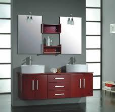stylish modular wooden bathroom vanity. Bathroom: Modern Rustic Bathroom Vanity Furniture Set Including Wooden Stool And White Sink With Stylish Modular I