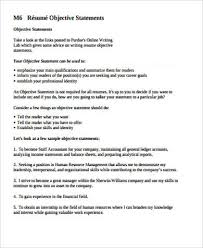 Sample Resume Objectives Statements 7 Sample Resume Objective Statement Free Sample Example