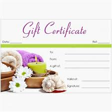 Best Certificate Templates Massage Certificates Templates Free Best Of 27 Best Spa Massage