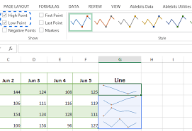 Excel Mini Charts Sparklines In Excel How To Add Them To Visualize Your Tables