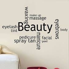 hair salon collage wall art vinyl