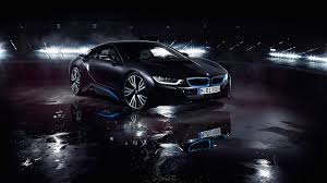 BMW i8 Matte Black Wallpaper