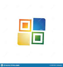 Awning Logo Design Window Logo Template Vector Icon Design Stock Vector