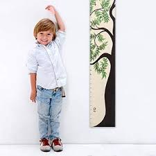 Growth Chart Art Wooden Tree Of Life Growth Chart For Kids Boys Girls Height Ruler Green Leaf