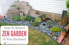 diy zen garden in your backyard
