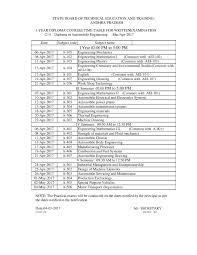 ap c time table sbtet diploma updates