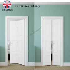 image is loading 6 panel white primed internal bifold doors folding