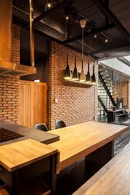 modern industrial lighting. View In Gallery Wooden Tables And Industrial Lighting For The Kitchen Dining Area Modern