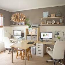 two desk office. More Ideas Below: DIY Two Person Office Desk Storage Plans L Shape  Furniture Ideas Rustic Corner Layout Small Two Office