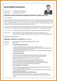6 Bank Job Cv Format Credit Letter Sample
