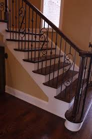 Fascinating Black Wrought Iron Stair Railing 93 For Your Minimalist with  Black Wrought Iron Stair Railing