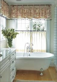 otherwise think of sticking to roman shades or use a heavier dry fabric for your bathroom window treatments