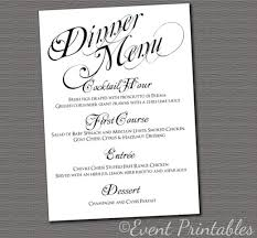 printable menu card, wedding reception dinner menu, black & white Wedding Reception Menu Cards printable menu card, diy wedding reception dinner menu, black & white elegant swirl collection wedding reception menu card template