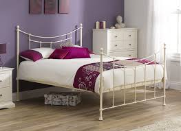 Metal Bed Bedroom Winchester Ivory Metal Bed Frame Dreams