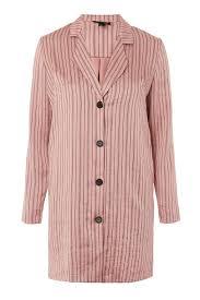 Striped Satin Shirt Dress Topshop