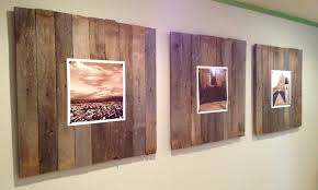 Reclaimed wood wall art panels