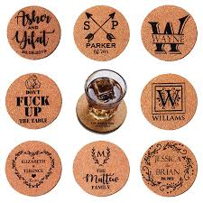 Custom cork coasters Round Cork Details About 5set Coasters Personalized Wooden Cork Coaster Custom Wedding Housewarming Gift Quality Logo Products 5set Coasters Personalized Wooden Cork Coaster Custom Wedding