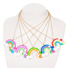 2019 creative rainbow girls necklace handmade polymer clay pendant necklace for children gift jewelry random color from boiline 19 18 dhgate