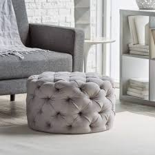 round leather tufted ottoman. Large Round Tufted Ottoman Coffee Table Mix And Chic Fabulous Finds For Less Tha Leather T