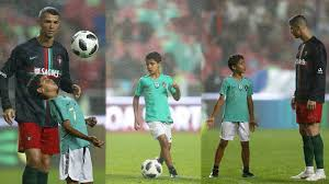 Cristiano Ronaldo Jr impressing Cristiano With Great Finish After Portugal  Game - YouTube