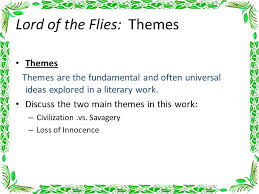 lord of the flies chapter notes ppt video online  28 lord of the flies themes
