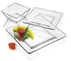 dinnerware square clear glass dinnerware sets square