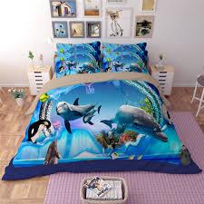 Dolphin Bedding Sets | eBay & 3D Seaworld Dolphin Duvet Cover Sets Quilt Cover Animal Printed Bedding Set  Blue Adamdwight.com